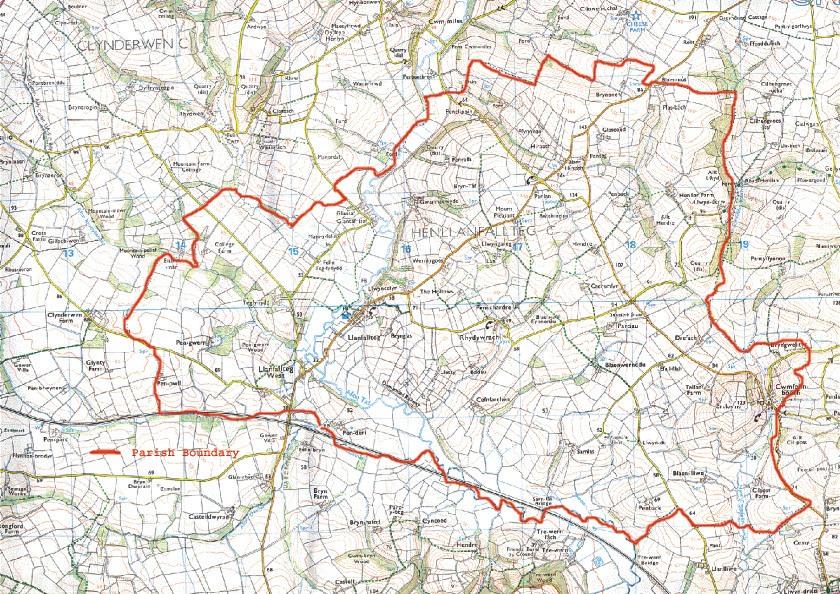 Henllanfallteg Community Parish Map